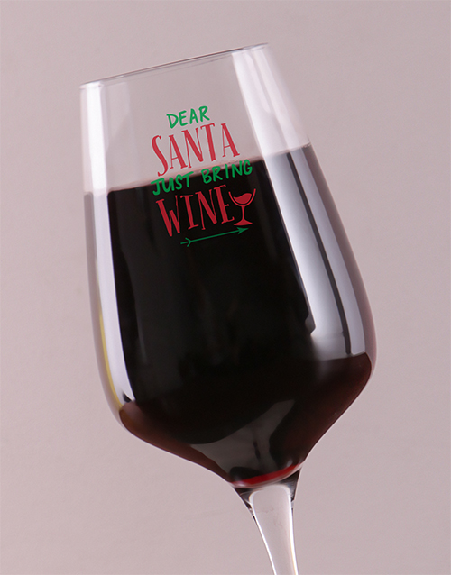 gifts: Personalised Bring Wine Glass!