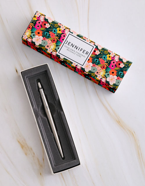 bosses-day: Personalised Floral Parker Pen Sleeve Box!