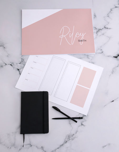 christmas: Personalised Pink Chic Desk Pad!