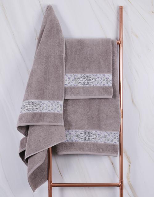 christmas: Personalised Vintage Stone Towel Set!