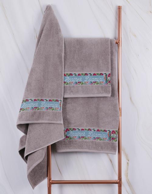 bath-and-body: Personalised Botanical Stone Towel Set !