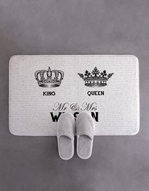 gifts: Personalised Royal Script Bath Mat !