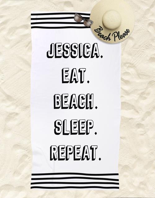christmas: Personalised Repeat Routine Beach Towel!