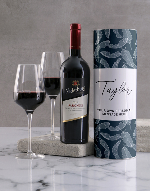 bosses-day: Personalised Feather Blues Wine Tube!