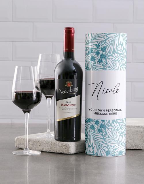 personalised: Personalised Tropical Wine Tube!