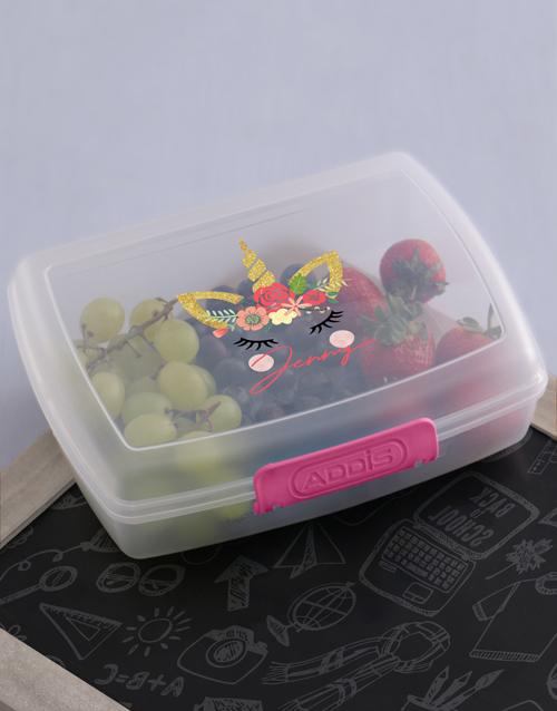 personalised: Personalised Unicorn Lunch Box!