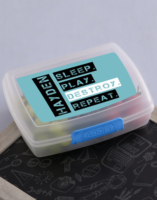 personalised: Personalised Destroy Lunch Box !