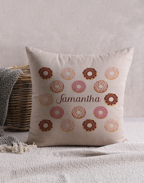 personalised: Personalised Doughnut Scatter Cushion!