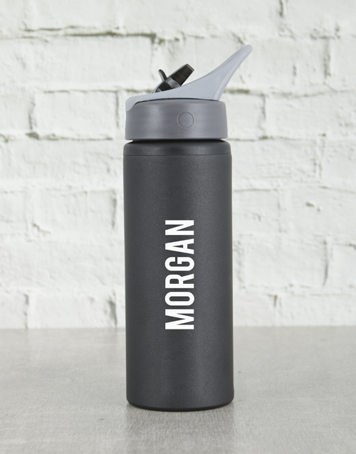 fathers-day: Personalised Black Waterbottle!