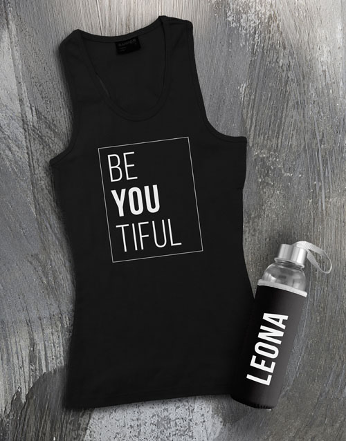 new-years: Personalised Beautiful Waterbottle And Racerback!