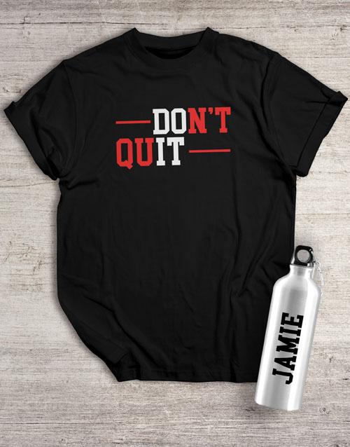 christmas: Personalised Do It Waterbottle And T Shirt!