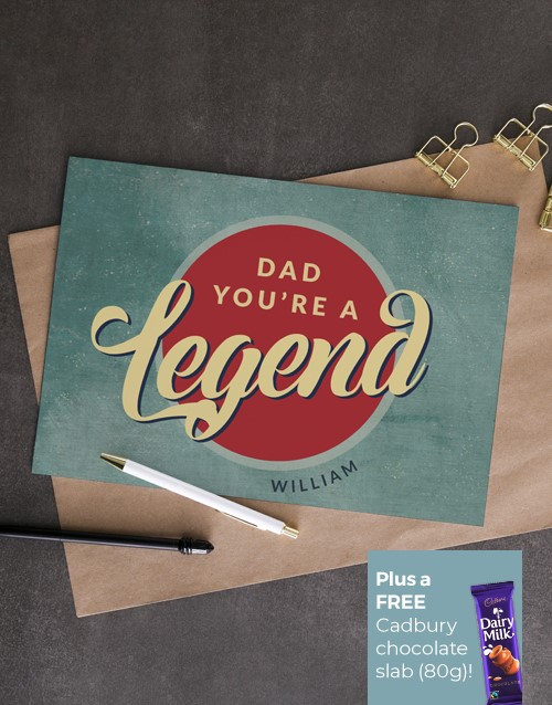 for-dad: Personalised Legendary Dad Card!