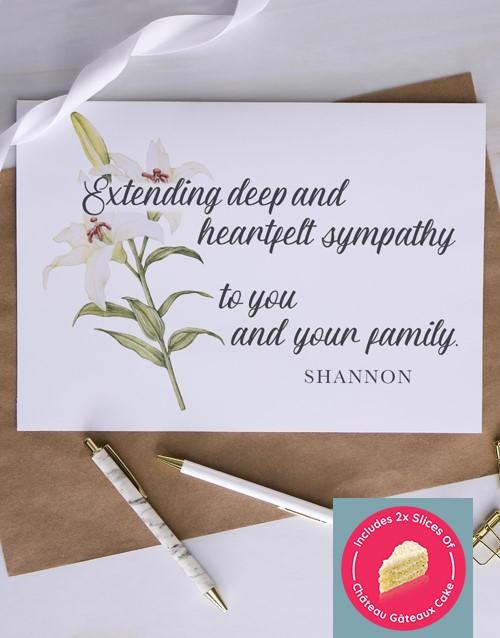 sympathy: Personalised Heartfelt Lily Sympathy Card!