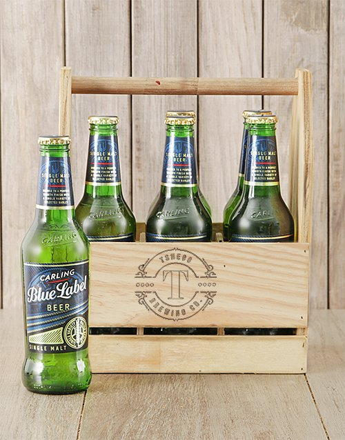 fathers-day: Personalised Initial Carling Beer Caddy!