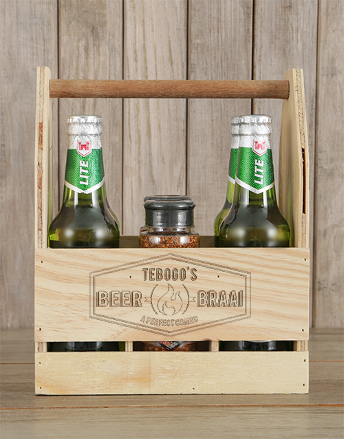 fathers-day: Personalised Braai and Castle Beer Caddy!