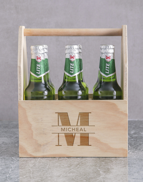anniversary: Personalised Stand Out Castle Beer Caddy!