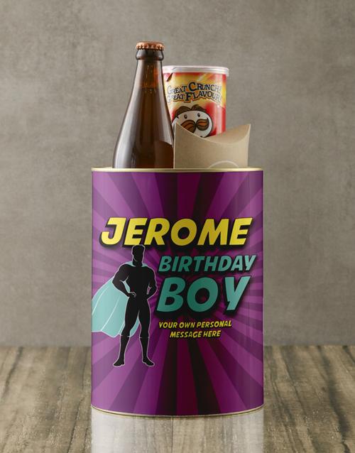 gourmet: Personalised Superhero Birthday Boy Bro Bucket!