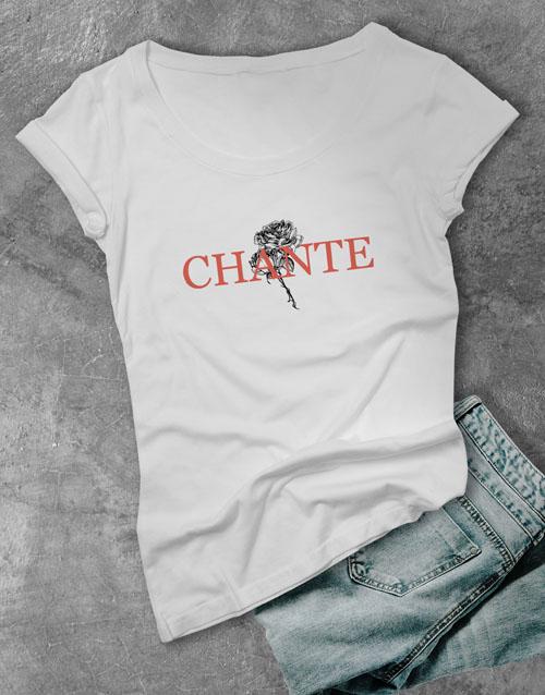 clothing: Personalised Rose Graphic Ladies T Shirt!
