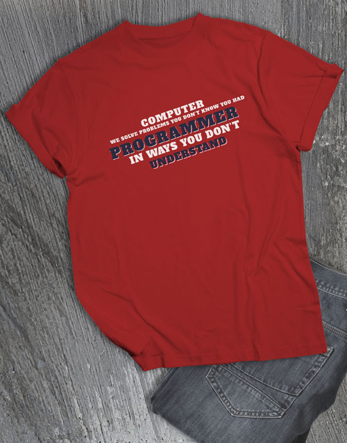 clothing: Personalised Problem Solver T Shirt!