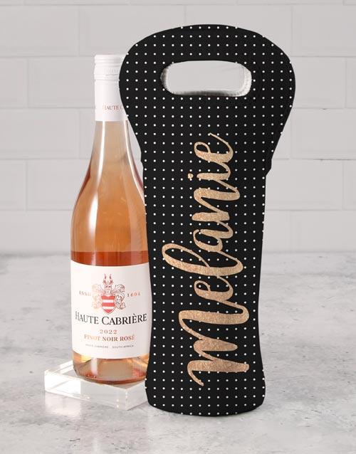 gifts: Personalised Posh Elegance Wine Carrier!