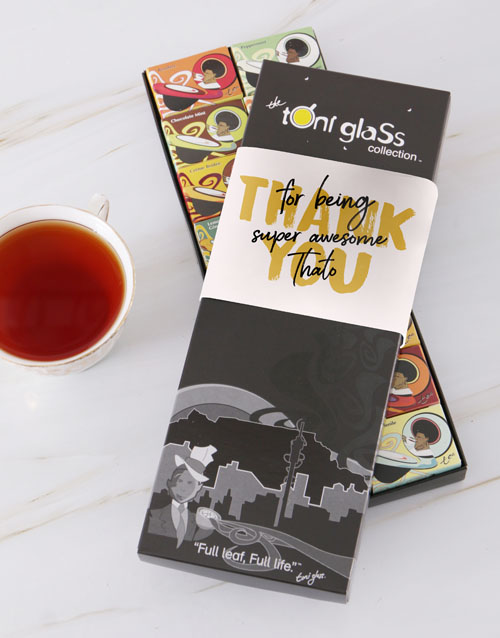 personalised: Personalised Thank You Toni Tea Set!