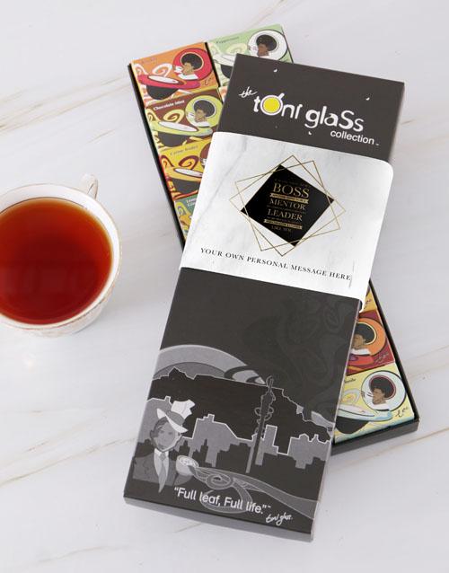personalised: Personalised Boss and Mentor Toni Tea Set!