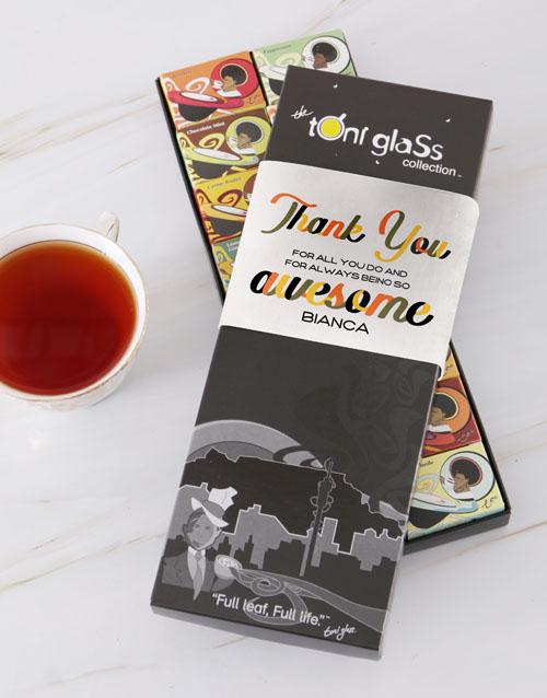 personalised: Personalised Awesome Thank You Toni Tea Set!