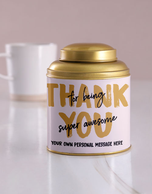 personalised: Personalised Being Awesome Tea Tin!
