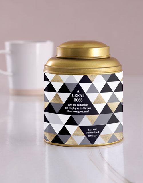 personalised: Personalised Great Boss Tea Tin!