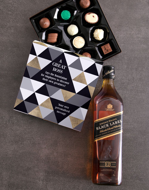 bosses-day: Personalised Greatness Alcohol Truffle Box!