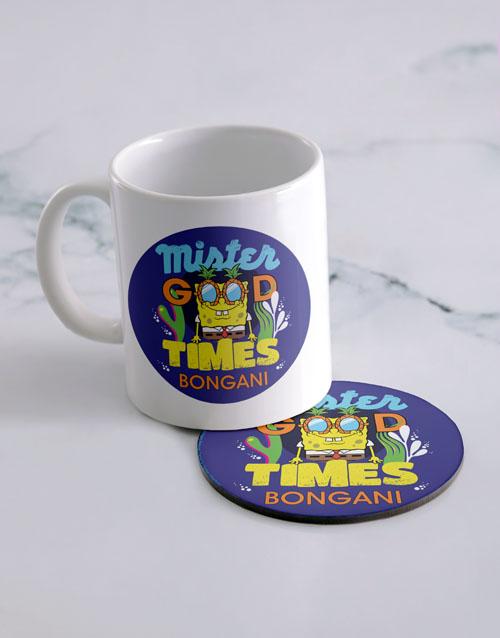personalised: Personalised Good Times Mug And Coaster!