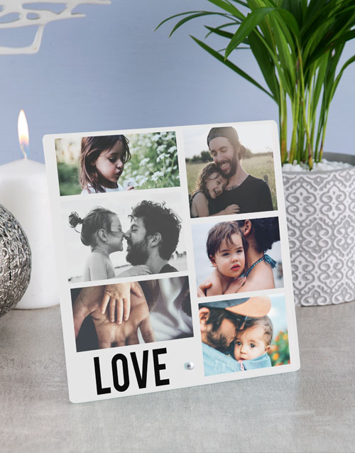 valentines-day: Personalised Love Photo Upload Glass Tile!