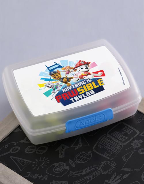 personalised: Personalised Paw Patrol Lunchbox!