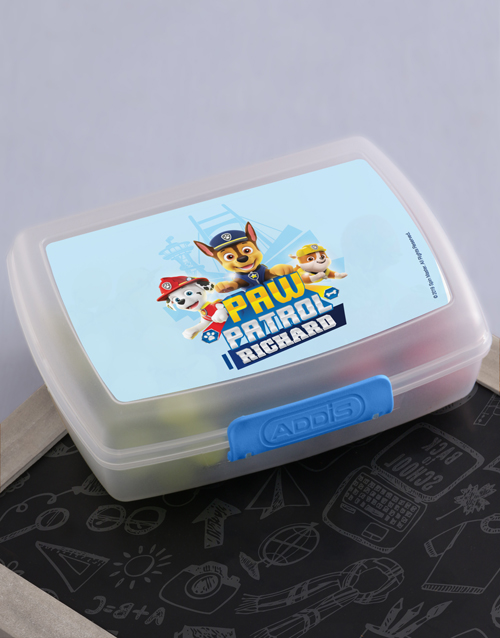 christmas: Personalised Paw Patrol Pups Lunchbox!