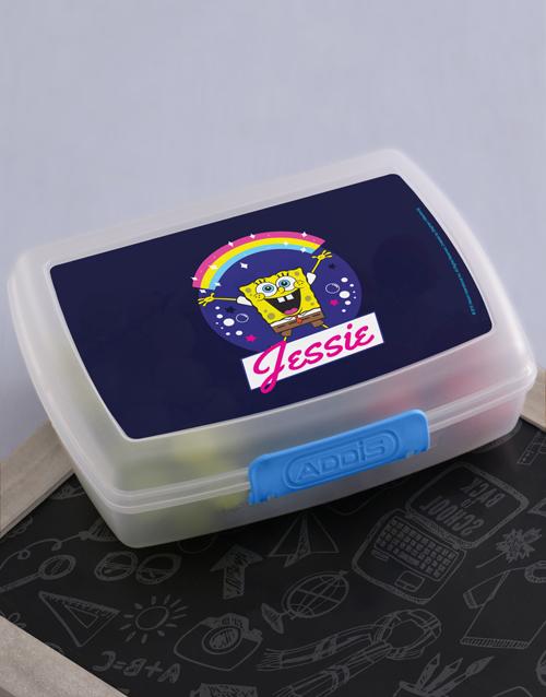 christmas: Personalised SpongeBob Rainbow Lunchbox!