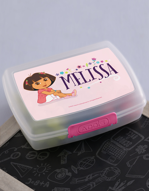 personalised: Personalised Dora Lunchbox!