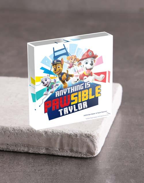 christmas: Personalised Paw Patrol Acrylic Block!