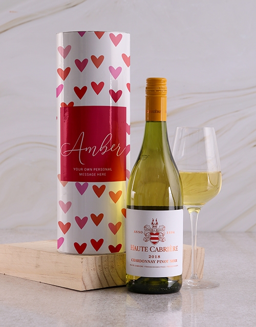 valentines-day: Personalised Hearts Wine Tube!