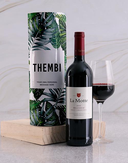 personalised: Personalised Leafy Wine Tube!