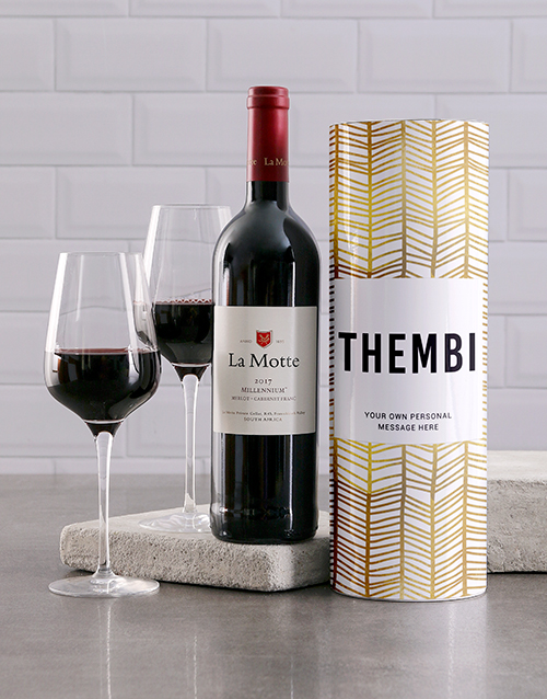 personalised: Personalised Gold Geometric Wine Tube!