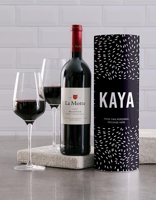 personalised: Personalised Starry Night Wine Tube!