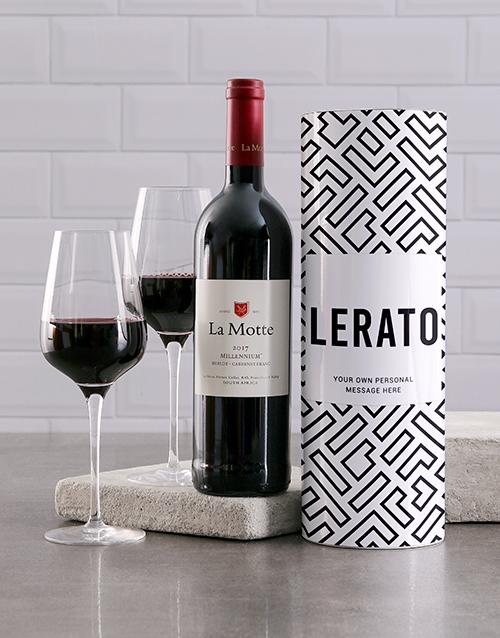 fine-alcohol: Personalised Geometric Wine Tube!