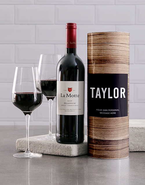 fine-alcohol: Personalised Wood Grain Wine Tube!