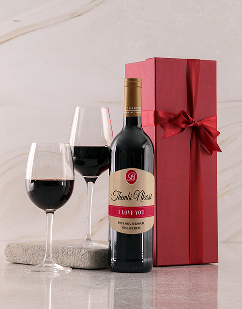 gifts: Personalised Love You Red Giftbox!