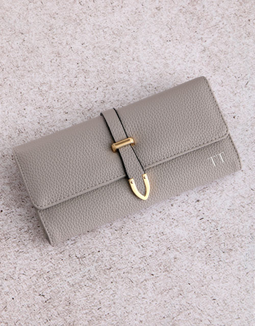 love-and-romance: Personalised Grey Long Purse!
