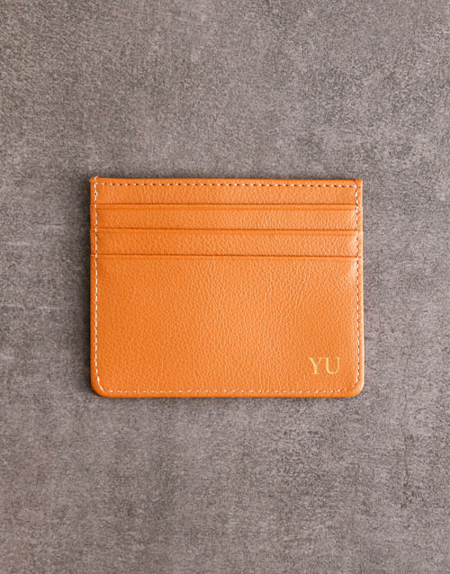 love-and-romance: Personalised Tan Card Holder!