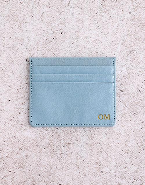 personalised: Personalised Blue Card Holder!