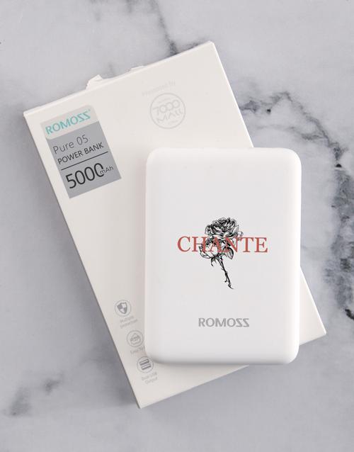 personalised: Personalised Flower Romoss Power Bank!