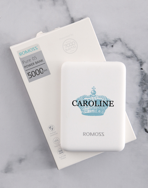 bosses-day: Personalised Crown Romoss Power Bank!