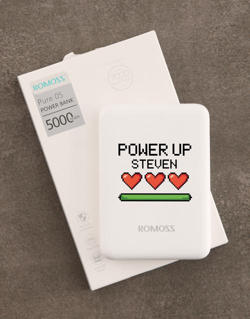 personalised: Personalised Power Up Romoss Power Bank!